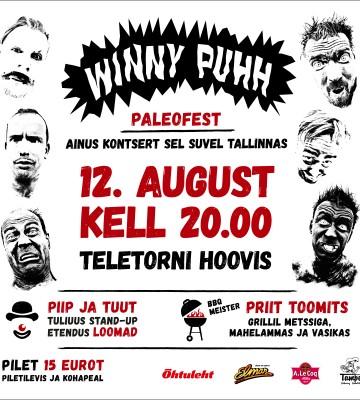 Winny Puhh Teletorni hoovis 12. augustil